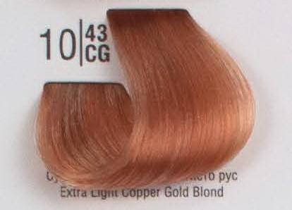 10/43CG Сверхсветлый рыжий блонд SPA Cream Color Профессиональный краситель для волос
