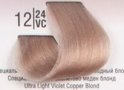 12/24VC Специальный светлый перламутровый медный блонд SPA Cream Color Профессиональный краситель для волос