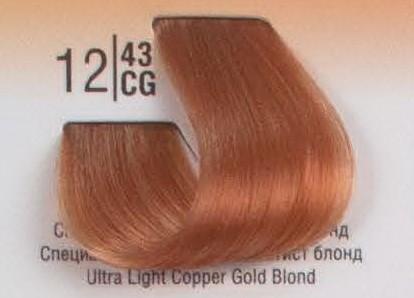 12/43CG Специальный светлый рыжий блонд SPA Cream Color Профессиональный краситель для волос