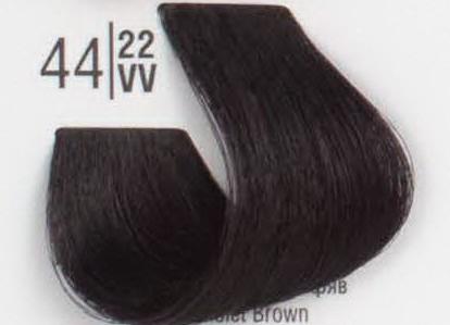 44/22VV Интенсивный фиолетовый шатен SPA Cream Color Профессиональный краситель для волос