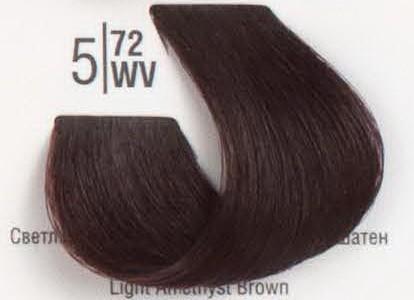 5/72WV Светлый коричневый перламутровый шатен SPA Cream Color Профессиональный краситель для волос