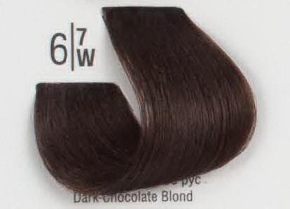 6/7W Темный коричневый блонд SPA Cream Color Профессиональный краситель для волос