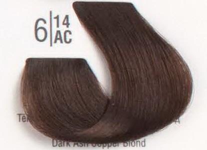 6/14АС Темный холодный шоколадный блонд SPA Cream Color Профессиональный краситель для волос