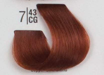 7/43CG Рыжий блонд SPA Cream Color Профессиональный краситель для волос