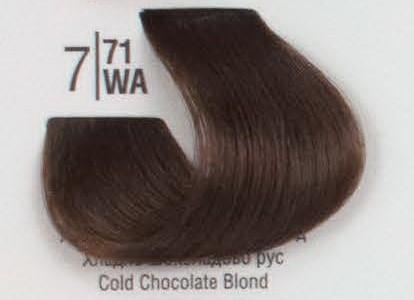 7/71WА Холодный коричневый блонд SPA Cream Color Профессиональный краситель для волос