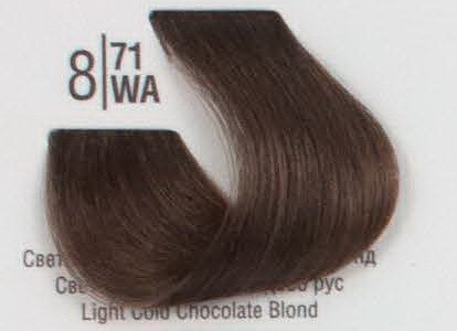 8/71WА Светлый холодный коричневый блонд SPA Cream Color Профессиональный краситель для волос