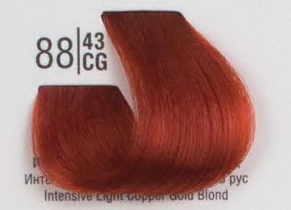 88/43CG Интенсивный светлый рыжий блонд SPA Cream Color Профессиональный краситель для волос