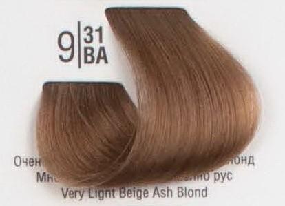 9/31BA Очень светлый холодный бежевый блонд SPA Cream Color Профессиональный краситель для волос