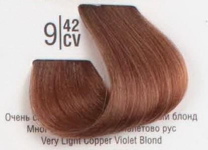 9/42CV Очень светлый медный перламутровый блонд SPA Cream Color Профессиональный краситель для волос