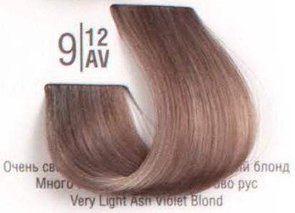 9/12AV Очень светлый холодный перламутровый блонд SPA Cream Color Профессиональный краситель для волос