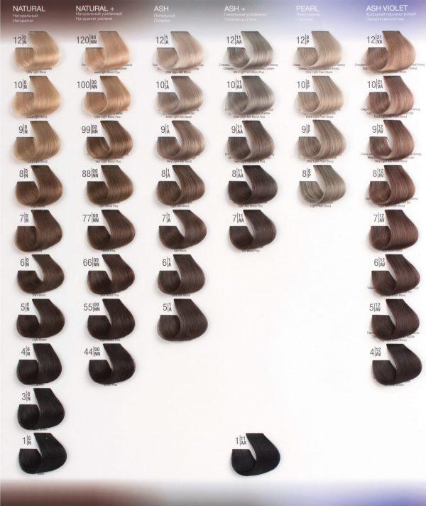 4/7W Коричневый шатен SPA Cream Color Профессиональный краситель для волос