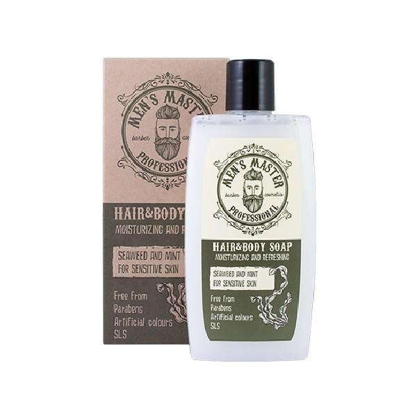 """Бодрящее мыло для тела и волос """"Водоросли и мята"""" Мens Master Professional"""