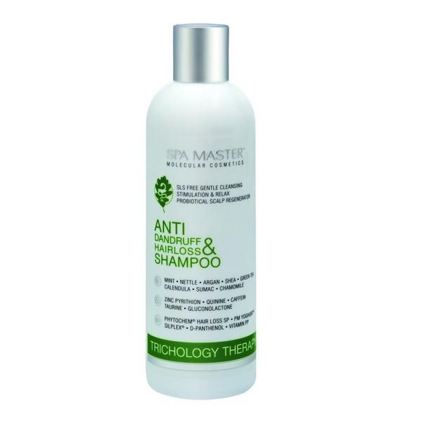 Безсульфатный шампунь против перхоти и выпадения волос (330 мл) Spa Master Professional