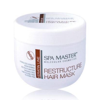 Реструктурирующая маска с кератином и кокосовым маслом (500 мл) Spa Master Professional